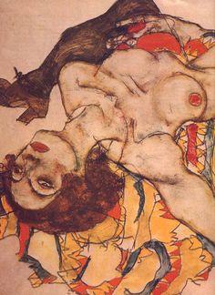 """Egon Schiele """"Femmes renversées""""1915 © Graphische Sammlung, Albertina Vienne"""