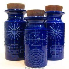1963 Portmeirion Pottery 'Totem' Storage Jars by Susan Williams-Ellis