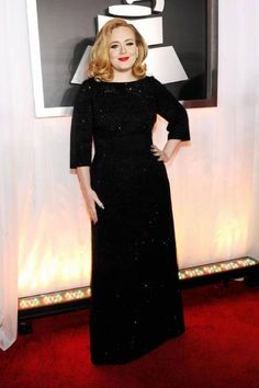 Best of 2012 -- Adele in Giorgio Armani. #celebrity #Adele #fashion