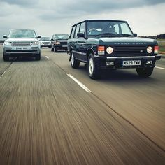 So this is my 500th Instagram post.. But what to post..? In the end there was no choice but Range Rovers old and new, with my own 1995 Classic Autobiography pride of place at the front. Scroll down my feed to see a similar shoot I did with an all-white collection of RRs a few months ago. #classicrangerover #caraction