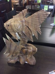 New Arrival! One of a kind wood carvings. Very unique! #OaksmithInteriors