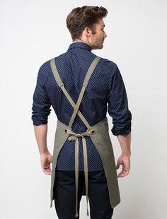 Cargo Crew - Tokyo Bib Apron - Khaki - Online Uniform Shop Australia