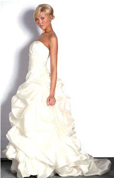 Justina McCaffrey -- Aliona (Style: 1101; Heavy silk satin organza, draped bodice, dramatic pick up skirt)