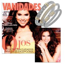 Roselyn Sanchez was featured by Vanidades magazine, wearing a sparkling trio of Vahan bangles! 22101D, 21626D and 21733D by Vahan Jewelry #VahanCelebs