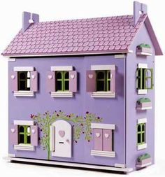 Le Toy Van Lavender House With opening windows and shutters and a pretty white heart motif...