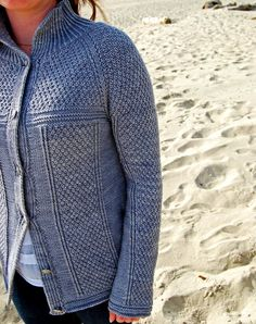 Ravelry: Crater Lake Cardigan pattern by Kay Hopkins - DK weight Sweater Jacket, Vest, Knit Jacket, Cardigan Pattern, Sweater Patterns, Knit Patterns, Arm Knitting, Knitting Ideas, Universal Yarn