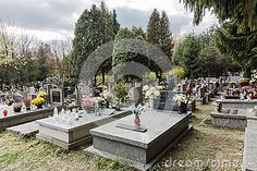 Batowice Cemetery, the largest municipal cemetery in  Krakow, Poland.