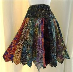 Upcycled ties make a cute skirt!