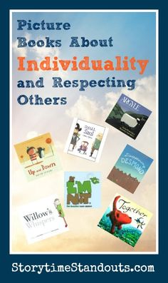 Storytime Standouts looks at picture books about individuality, individuality, self confidence and finding your voice.  #kidlit #individuality