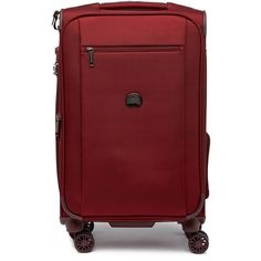 "Delsey Luggage 20"""" Montmartre+ Carry-On Expandable Spinner Trolley (€82) ❤ liked on Polyvore featuring bags, luggage and bordeaux"