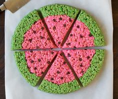 Watermelon Rice Krispies Treats | Cooking Classy
