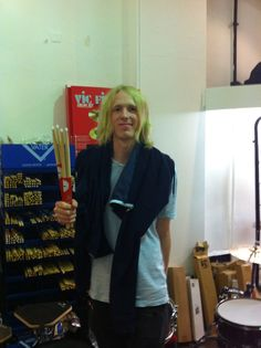 Adam Weston drummer of Birds of Tokyo drops into Revolver Drums to pick up some sticks