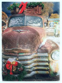 Rusty Pickup Truck Arroyo Seco New Mexico - a not-uncommon sight. New Mexico Style, Taos New Mexico, New Mexico Homes, Mexico Christmas, Merry Christmas, Southwest Ranches, Houses In America, South Of The Border, Land Of Enchantment