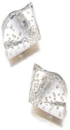 Joel Arthur Rosenthal Rock Crystal and Diamond Earrings, JAR Paris