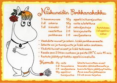 4760520 1-os Muumi Reseptikortti Tove Jansson, Finnish Recipes, Kiss The Cook, Baking With Kids, Little People, Pie Recipes, Feel Good, Food To Make, Food And Drink