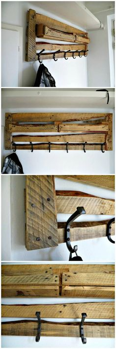 Easy Handcrafted Pallet Coat Rack - 150 Best DIY Pallet Projects and Pallet Furniture Crafts - Page 49 of 75 - DIY & Crafts