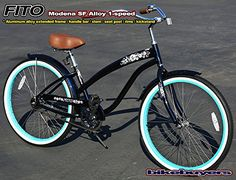"Vintage Fashion and Lifestyle Anti-Rust Aluminum frame, Fito Modena SF Alloy 1-speed Women's 26"" wheel Beach Cruiser Bike Bicycle Micargi Schwinn Nirve Firmstrong style"