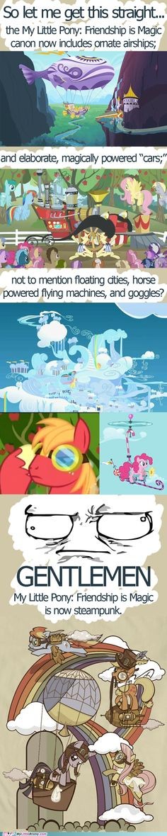 my little pony, friendship is magic, brony - Steampunk is Magic