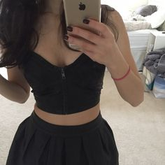 """ASOS faux leather skater skirt New without tag. About 13"""" across the top and 15"""" long. ASOS Skirts"""