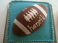 Amerikansk fodbolds kage American football cake
