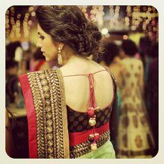 #updo #hair #sari #vibrantrahulandradhika