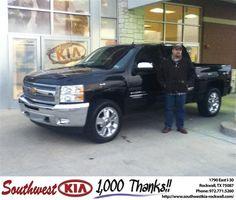 #HappyAnniversary to Wesley Lokey on your 2012 #Chevrolet #Silverado 1500 from Paula  Lovejoy at Southwest KIA Rockwall!