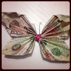 I'm going to make this the next thing in tooth fairy money. Move over, glitter. Folding into shapes is the next thing.