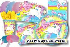 Cute unicorn party plates, etc