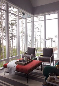 view trees pacific northwest living room seabrook washington brian paquette interior design west elm decorate