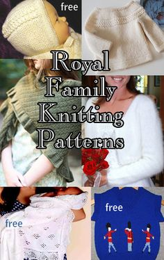 In honor of Princess Charlotte's christening, here are several knitting patterns inspired by outfits worn by the British Royal family, including free patterns, at http://intheloopknitting.com/royal-family-knitting-patterns/ including Princess Charlotte's bonnet and sweater, Prince George's vest, cardigan, and shawl, Kate's market shawl and wedding shrug