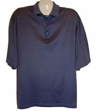 Today's Man Dark Blue Polo Mens Cotton Italian Shirt Size 2XL Good Condition