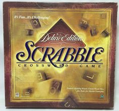 Scrabble Deluxe Edition Crossword Game 1999 Turntable Board Game #MiltonBradley