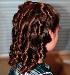 Fun Hair for Girls: How to Get Spirals with Rag Curlers | Large Families on Purpose