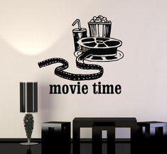 Vinyl Wall Decal Movies Cinema Film Popcorn Room Decor Stickers Mural (ig3342)
