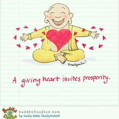 A giving heart invites prosperity