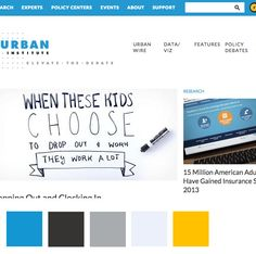 simply clean color palette from Urban Institute Website Color Palette, Website Color Schemes, Colour Palettes, Web Design Inspiration, Color Pallets, Research, Print Design, Branding, Urban