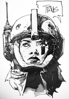 Space Girl sketch | Travis Charest