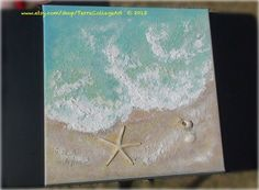 The Tide Abstract Original Mixed Media Art Sea by TerraCollageArt