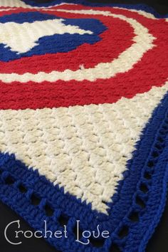 Another View of my C2C Blanket of captain Americas Shield. #Crochet #C2C #Grpahgan #IceYarns #Captain #America #CrochetBlanket #Crocheted #Crocheted