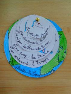 <p>En+géographie,+nous+avons+fabriqué+un+outil+qui+permettra+aux+enfants+de+situer+et+de+mémoriser+le+nom+de+leur+commune,+de+leur+département,+de+leur+région,+de+leur+pays,+de+leur+continent+et+de+leur+planète.+L'idée+est+toute+simple+mais+géniale.+(+Elle+ne+vient+pas+de+moi).+…</p> Math For Kids, Activities For Kids, Global Citizenship, French Words, Forest School, Learn French, Social Science, Primary School, Projects For Kids