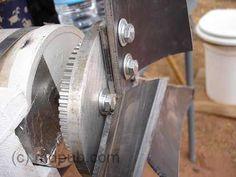 detalhe da hélice do gerador eólico
