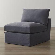 """Lounge II Slipcovered 32"""""""" Armless Chair"""