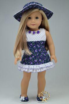 Muñeca de la muchacha Amelican ropa OOAK Ocasión por PurpleRoseNY