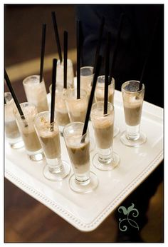 miniature shakes - cute party idea