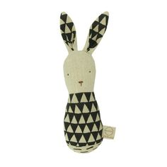 Bunny Rattle - mini mioche - organic infant clothing and kids clothes - made in Canada
