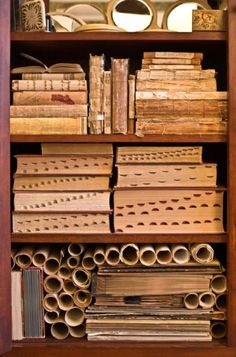 I collect old books - especially dictionaries and bibles. Love their collection of dictionaries shown here...