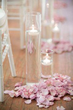 Wedding Ceremony Ideas, Wedding Aisle Candles, Floating Candles Wedding, Floating Candle Centerpieces, Romantic Candles, Wedding Aisle Decorations, Wedding Centerpieces, Diy Wedding, Trendy Wedding
