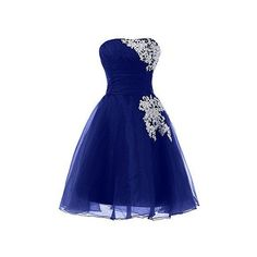 Sunvary Organza and Lace Short Homecoming Cocktail Dresses Bridesmaid... ❤ liked on Polyvore