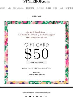 Gift Voucher Template With Colorful Patterncute Gift Voucher - Email gift certificate template