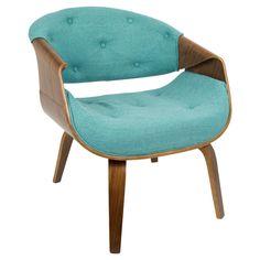Curvo Mid Century Modern Accent Chair -